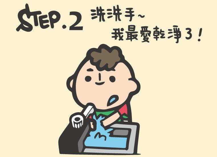 Step2.洗洗手~我最愛乾淨了