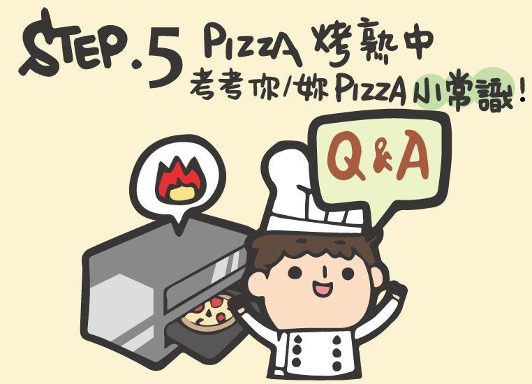 Step5.Pizza烤熟中~考考你/妳Pizza小常識!